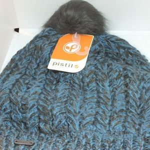 Pistil Womens Avalon Blue Pom Beanie One Size New